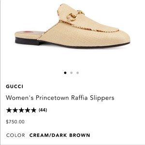 Gucci raffia 36.5 princetown